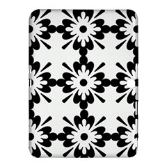 Floral Illustration Black And White Samsung Galaxy Tab 4 (10 1 ) Hardshell Case