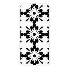 Floral Illustration Black And White Apple Seamless iPhone 6 Plus/6S Plus Case (Transparent)