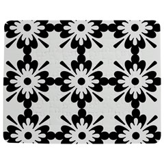 Floral Illustration Black And White Jigsaw Puzzle Photo Stand (rectangular)