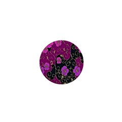 Floral Pattern Background 1  Mini Buttons