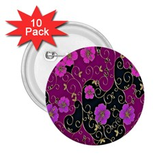 Floral Pattern Background 2.25  Buttons (10 pack)