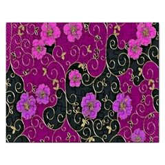 Floral Pattern Background Rectangular Jigsaw Puzzl
