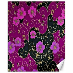 Floral Pattern Background Canvas 11  X 14