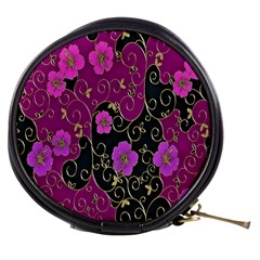 Floral Pattern Background Mini Makeup Bags