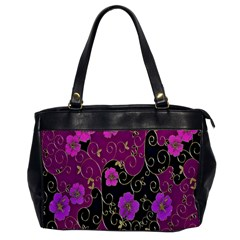 Floral Pattern Background Office Handbags