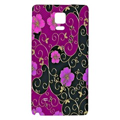 Floral Pattern Background Galaxy Note 4 Back Case
