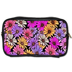 Floral Pattern Toiletries Bags 2 Side