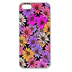 Floral Pattern Apple Seamless Iphone 5 Case (clear)