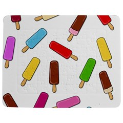 Ice cream pattern Jigsaw Puzzle Photo Stand (Rectangular)