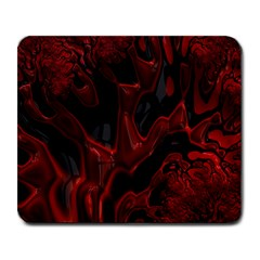 Fractal Red Black Glossy Pattern Decorative Large Mousepads