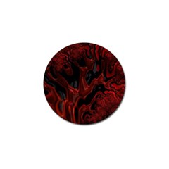 Fractal Red Black Glossy Pattern Decorative Golf Ball Marker (4 Pack)