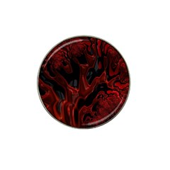 Fractal Red Black Glossy Pattern Decorative Hat Clip Ball Marker (10 Pack)