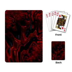 Fractal Red Black Glossy Pattern Decorative Playing Card