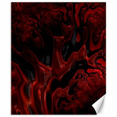 Fractal Red Black Glossy Pattern Decorative Canvas 8  X 10