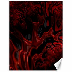 Fractal Red Black Glossy Pattern Decorative Canvas 12  X 16