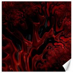Fractal Red Black Glossy Pattern Decorative Canvas 20  X 20