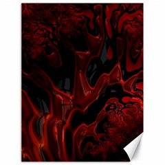 Fractal Red Black Glossy Pattern Decorative Canvas 18  X 24