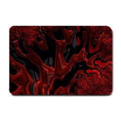 Fractal Red Black Glossy Pattern Decorative Small Doormat