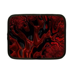 Fractal Red Black Glossy Pattern Decorative Netbook Case (small)