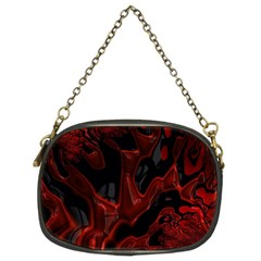 Fractal Red Black Glossy Pattern Decorative Chain Purses (two Sides)
