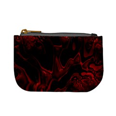Fractal Red Black Glossy Pattern Decorative Mini Coin Purses
