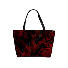 Fractal Red Black Glossy Pattern Decorative Shoulder Handbags