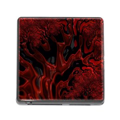 Fractal Red Black Glossy Pattern Decorative Memory Card Reader (square)
