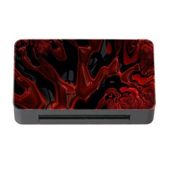Fractal Red Black Glossy Pattern Decorative Memory Card Reader With Cf
