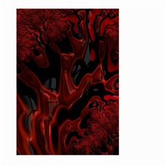 Fractal Red Black Glossy Pattern Decorative Large Garden Flag (two Sides)