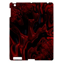 Fractal Red Black Glossy Pattern Decorative Apple Ipad 3/4 Hardshell Case