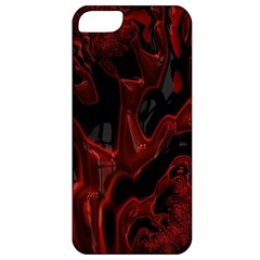 Fractal Red Black Glossy Pattern Decorative Apple Iphone 5 Classic Hardshell Case