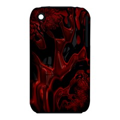Fractal Red Black Glossy Pattern Decorative iPhone 3S/3GS