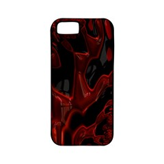 Fractal Red Black Glossy Pattern Decorative Apple Iphone 5 Classic Hardshell Case (pc+silicone)