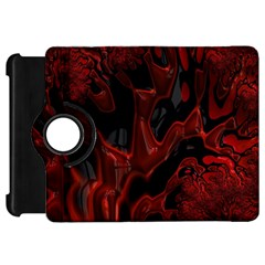 Fractal Red Black Glossy Pattern Decorative Kindle Fire Hd 7