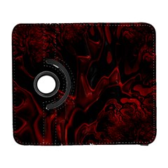Fractal Red Black Glossy Pattern Decorative Galaxy S3 (flip/folio)