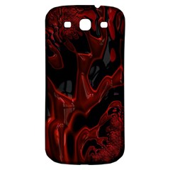 Fractal Red Black Glossy Pattern Decorative Samsung Galaxy S3 S Iii Classic Hardshell Back Case