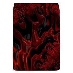 Fractal Red Black Glossy Pattern Decorative Flap Covers (s)