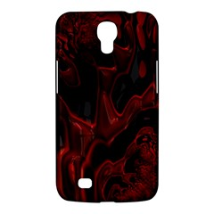 Fractal Red Black Glossy Pattern Decorative Samsung Galaxy Mega 6 3  I9200 Hardshell Case