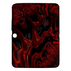Fractal Red Black Glossy Pattern Decorative Samsung Galaxy Tab 3 (10 1 ) P5200 Hardshell Case