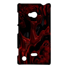 Fractal Red Black Glossy Pattern Decorative Nokia Lumia 720