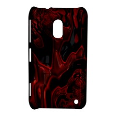 Fractal Red Black Glossy Pattern Decorative Nokia Lumia 620