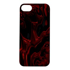 Fractal Red Black Glossy Pattern Decorative Apple Iphone 5s/ Se Hardshell Case