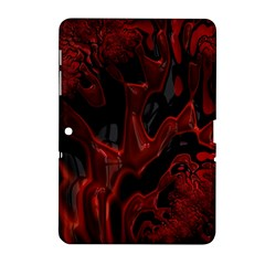 Fractal Red Black Glossy Pattern Decorative Samsung Galaxy Tab 2 (10 1 ) P5100 Hardshell Case