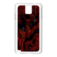 Fractal Red Black Glossy Pattern Decorative Samsung Galaxy Note 3 N9005 Case (white)