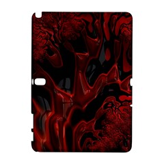 Fractal Red Black Glossy Pattern Decorative Galaxy Note 1