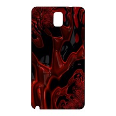 Fractal Red Black Glossy Pattern Decorative Samsung Galaxy Note 3 N9005 Hardshell Back Case