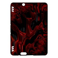 Fractal Red Black Glossy Pattern Decorative Kindle Fire Hdx Hardshell Case