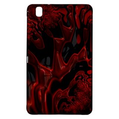 Fractal Red Black Glossy Pattern Decorative Samsung Galaxy Tab Pro 8 4 Hardshell Case