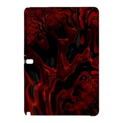 Fractal Red Black Glossy Pattern Decorative Samsung Galaxy Tab Pro 12 2 Hardshell Case