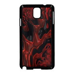 Fractal Red Black Glossy Pattern Decorative Samsung Galaxy Note 3 Neo Hardshell Case (black)